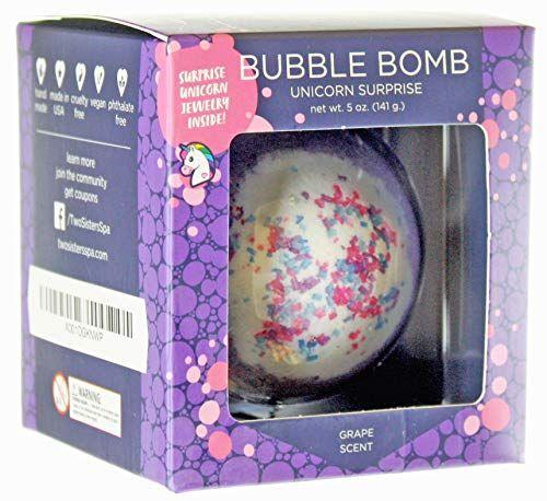 Unicorn Bath Bomb with Surprise Necklace