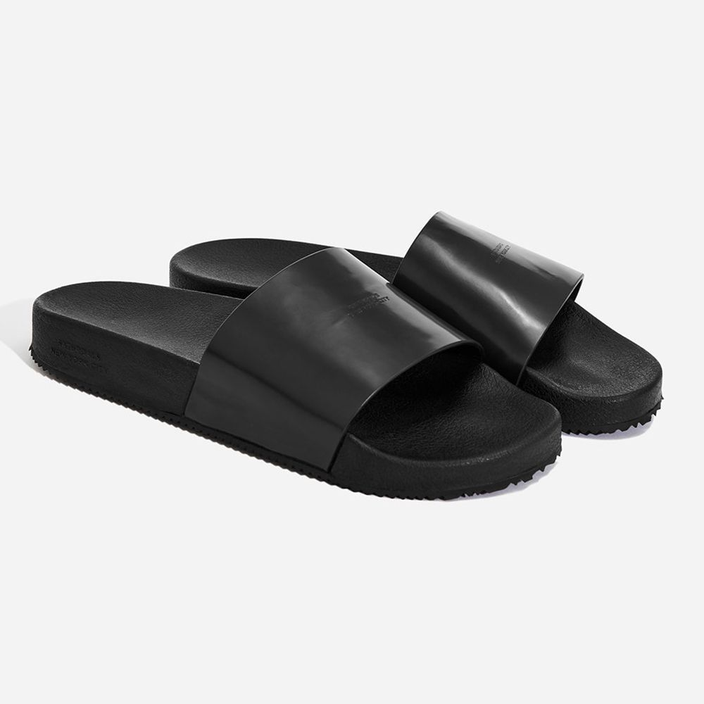 Saturdays NYC Banya Leather Slides for Men