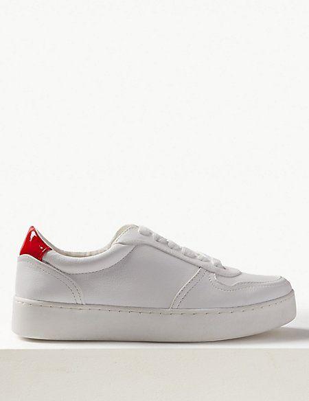 Marks \u0026 Spencer white trainers - M\u0026S