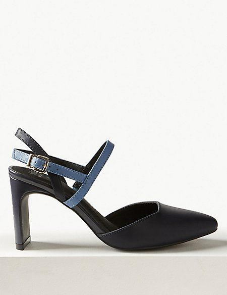 1aab7103e99 Leather Almond Toe Court Shoes