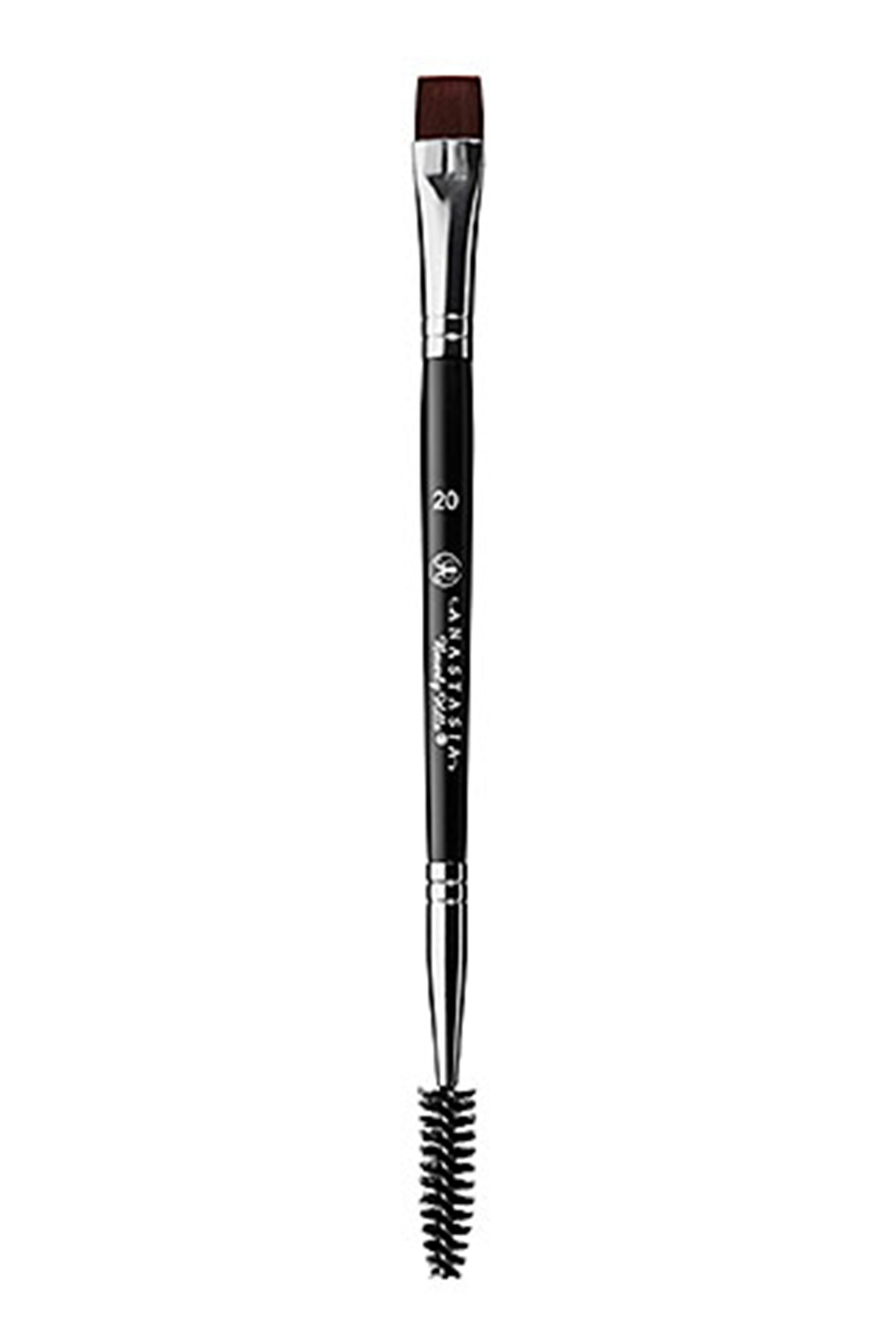 Anastasia Beverly Hills Brush #20 Anastasia Beverly Hills sephora.com $18.00 SHOP NOW The square-shaped brush allows you to create clean, defined edges, while the spoolie end blends product into your brow hair to create a natural look.