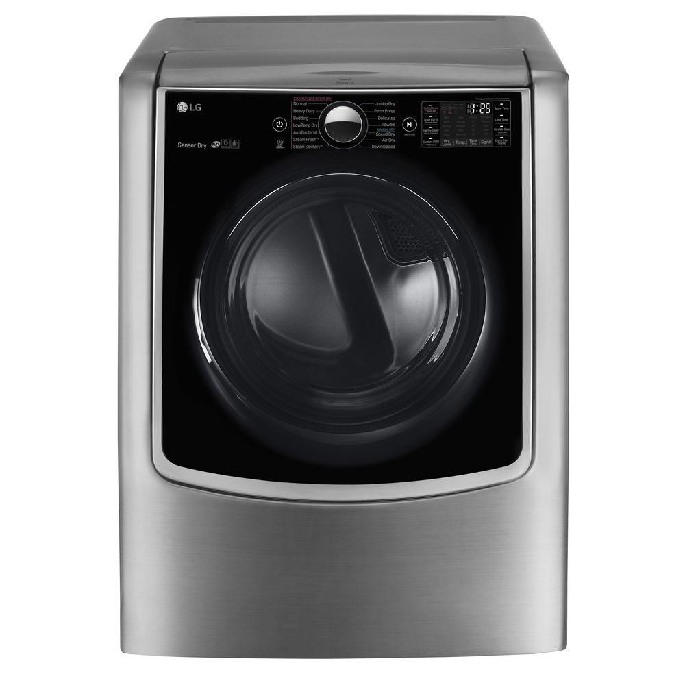 LG 9 0 Cu  Ft  14-Cycle Smart Wi-Fi Electric Steam Dryer