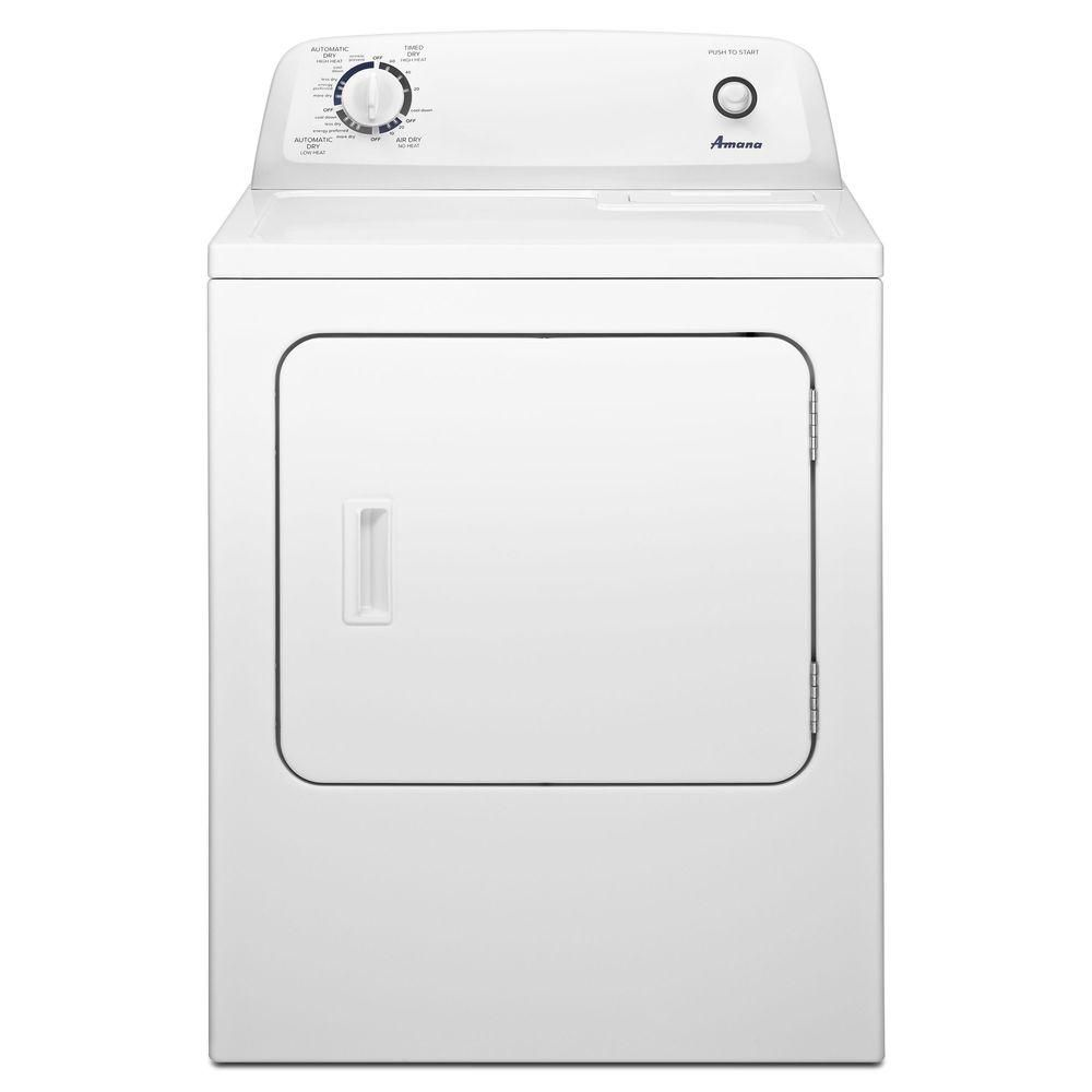 Amana 6 5 Cu  Ft  11-Cycle Electric Dryer