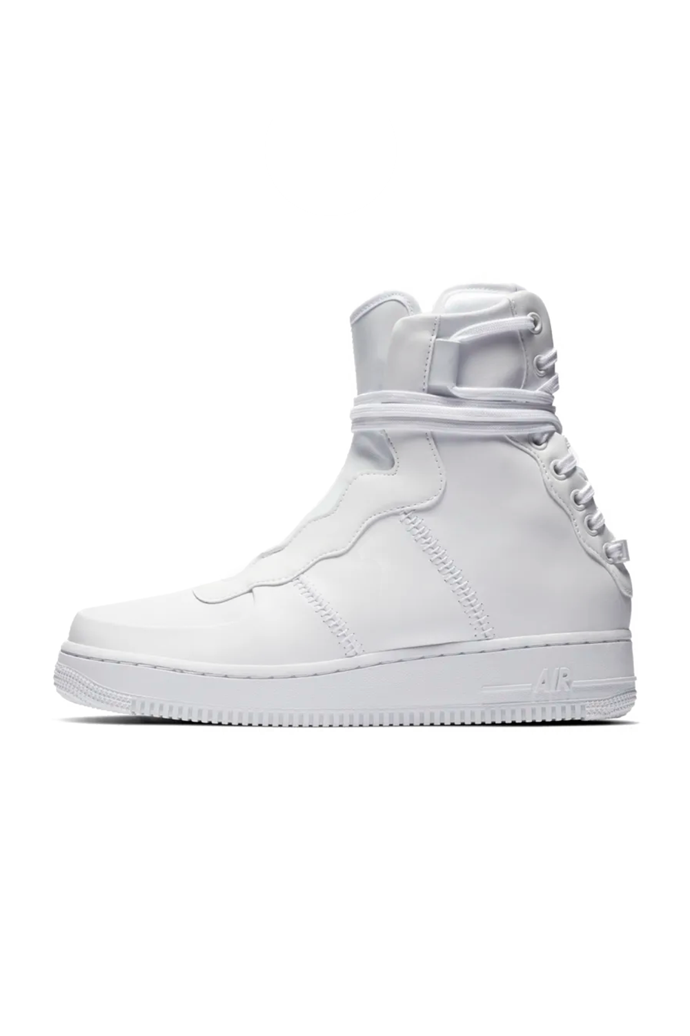 Shoe Nike AF1 Rebel XX Nike nike.com $140.00 SHOP IT This high-top sneaker has a major plot twist: the laces are on the back instead of the front. That alone is enough to make me do a double-take on these.