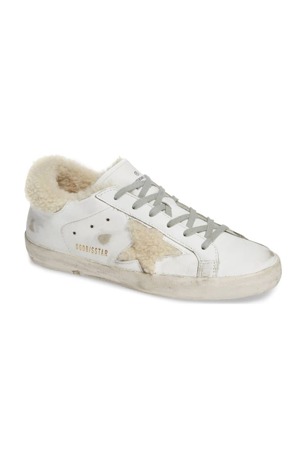 Superstar Genuine Shearling Trim Sneaker Golden Goose nordstrom.com $585.00 SHOP IT The addition of shearling to a white sneaker is genius. Your foot will