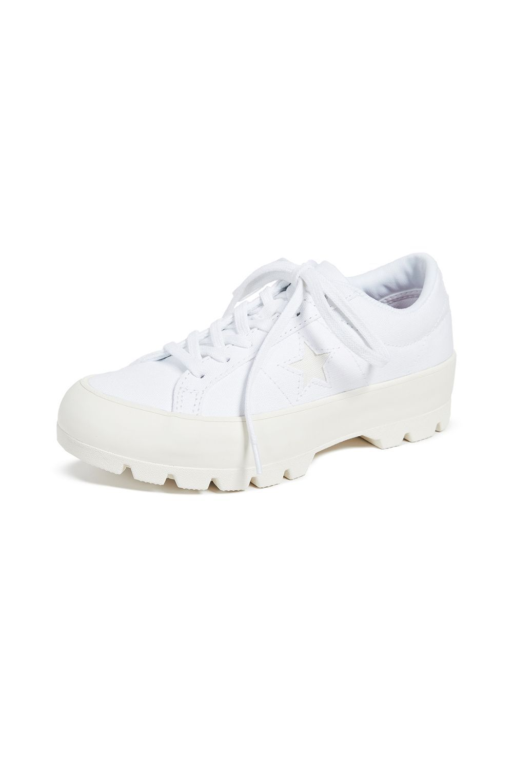 One Star Lugged Ox Sneakers Converse shopbop.com $85.00 SHOP IT Looking for sneakers to give you a boost in height? Try this slightly elevated pair from Converse.