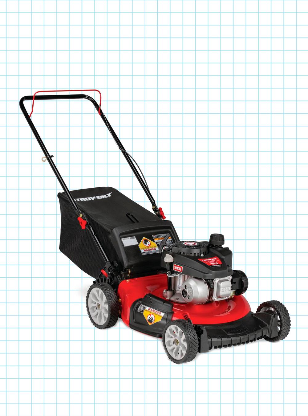 Troy-Bilt Gas Walk-Behind Push Mower with 3-in-1 TriAction Cutting System