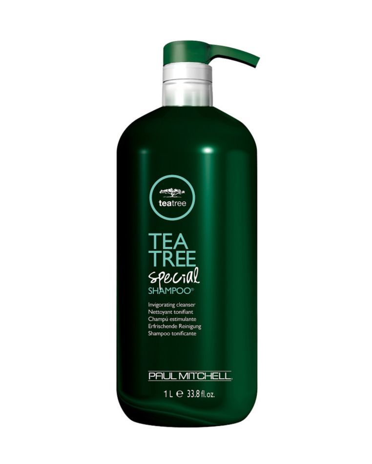 Paul Mitchell Tea Tree Special Shampoo ulta.com $34.00 SHOP NOW Tea tree oil isn't just a savior for breakouts, it cuts right through oil on your scalp as well. The Paul Mitchell tea tree special shampoo strips the scalp of impurities, while managing to get hair feeling more full and shiny.