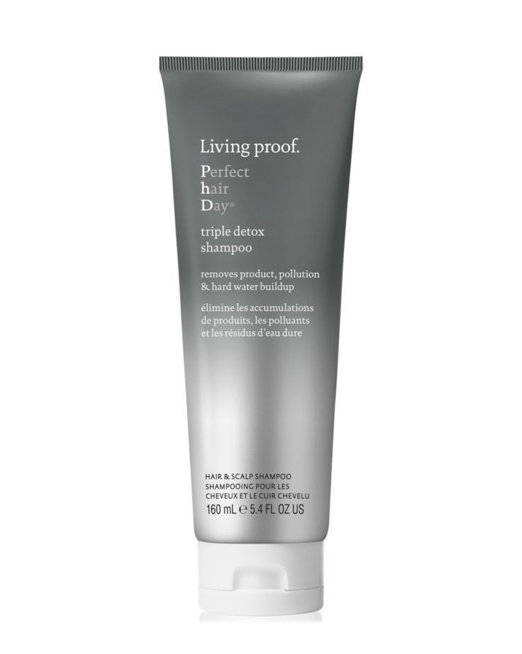 Living Proof Perfect hair Day Triple Detox Shampoo ulta.com $28.00 SHOP NOW The Living Proof Triple Detox Shampoo is the bottle to reach for when it's been way too long since your last wash. It removes buildup from products (oh hey there, dry shampoo!), pollution and hard water.