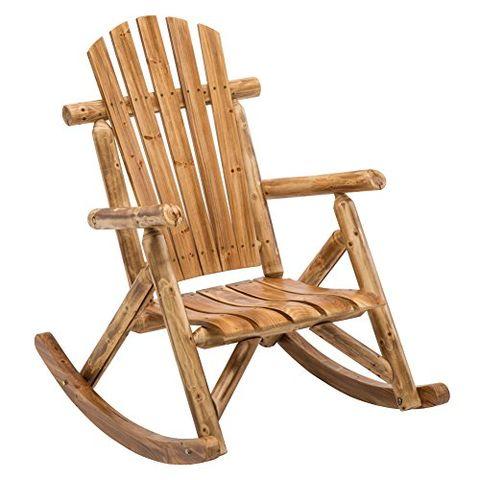 1 Antique Wood Outdoor Rocking Adirondack Chair