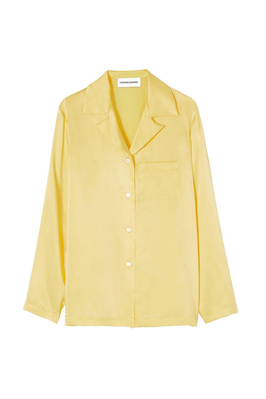 Silk Charmeuse Pajama Shirt Mansur Gavriel mansurgavriel.com $445.00 SHOP IT