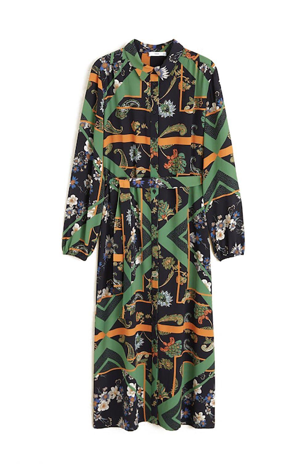 Scarf Print Shirt Dress Mango mango.com $99.99 SHOP IT