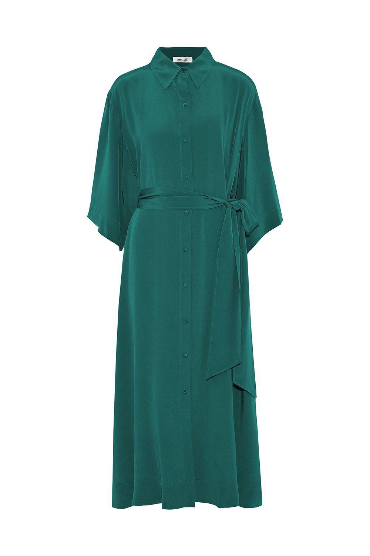 Belted Silk Satin Midi Shirt Dress Diane Von Furstenberg theoutnet.com $199.00 SHOP IT