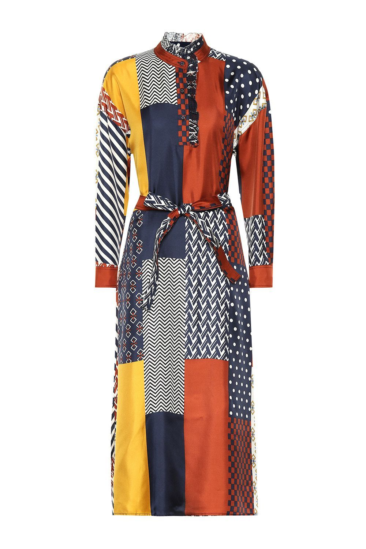 Tory Burch Bianca Silk Shirt Dress Tory Burch mytheresa.com $488.00 SHOP IT