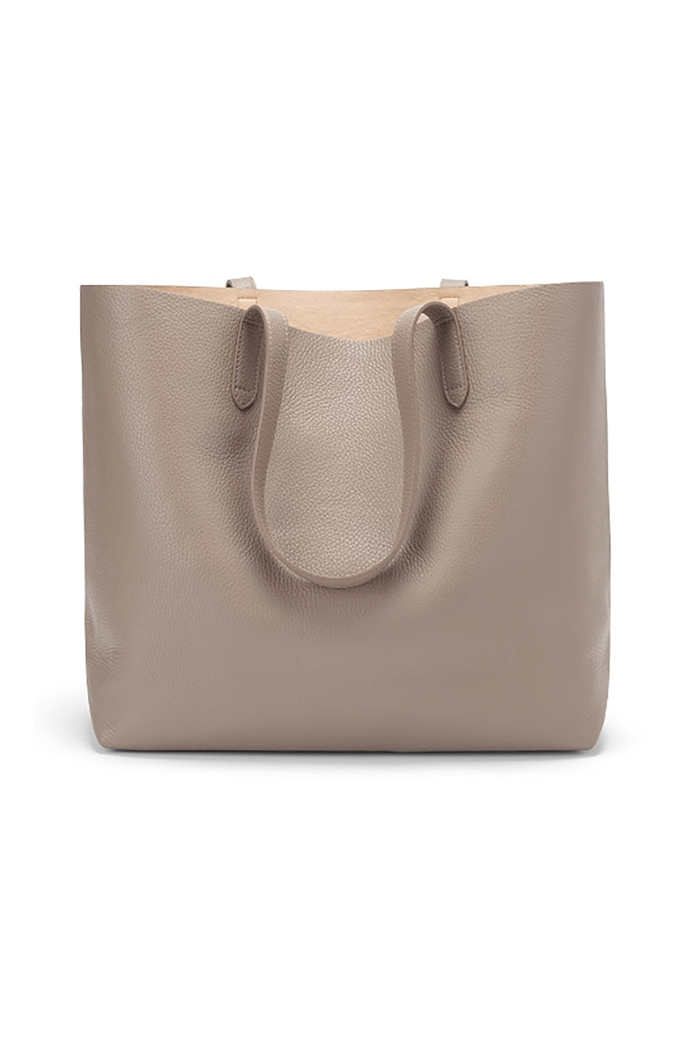 Say My Name, Say My Name Cuyana $195.00 SHOP IT Never worry about tipping over with any spillable lunch items again with this roomy pebbled leather Cuyana tote. Minimal lovers will appreciate the clean aesthetic and the thoughtful option to customize it with monogrammed initials.