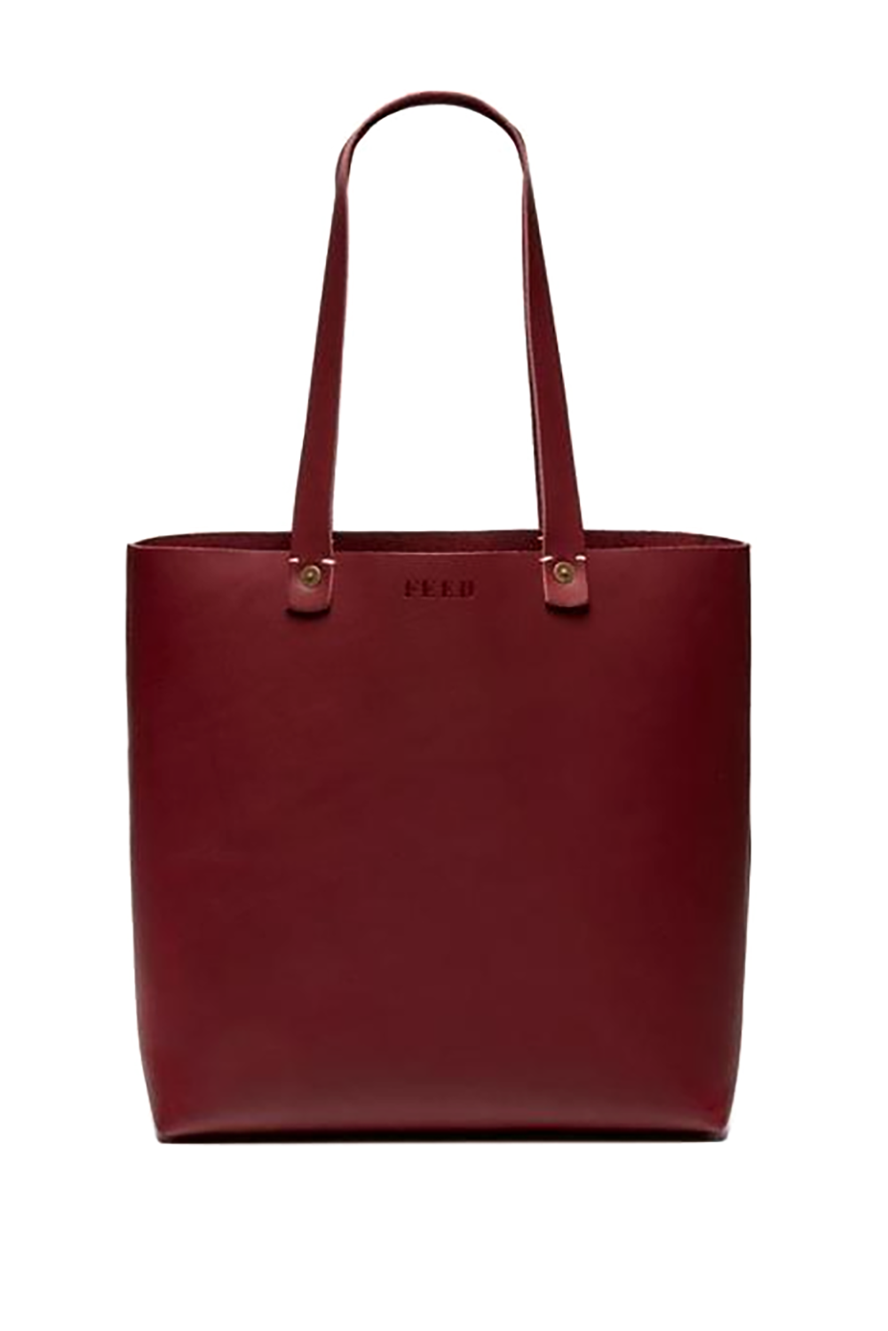 The Two-for-One FEED $138.00 SHOP IT Walk into work feeling great everyday knowing your rustic leather tote provides 100 meals to children in need. Add a leather tassel to complete the look.
