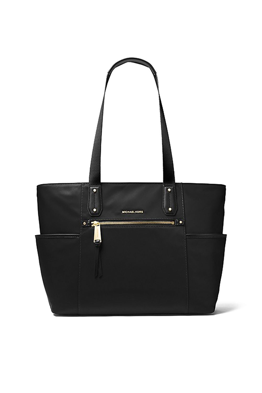A Real Stand-Up Tote MICHAEL Michael Kors Michael Kors $178.00 SHOP IT For a classic business feel, this Michael Kors nylon tote comes with convenient side pockets for all your essentials—phone, ID card, latest book club read —and won't lose its shape when you set it down underneath your desk.