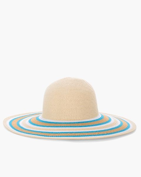 3c8a57f41 Blue and Neutral Striped Sun Hat