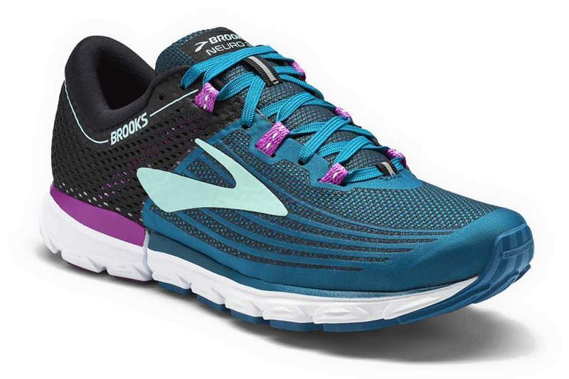 Brooks Womens Asteria Running Shoes Trainers Sneakers Blue Pink Sports