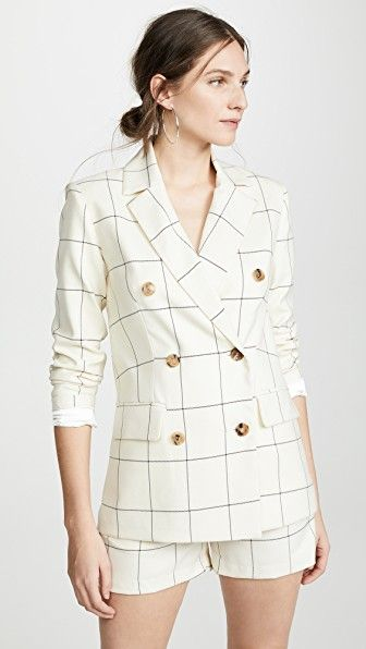Clare Checked Double Breasted Blazer ei8htdreams shopbop.com $444.00 SHOP IT