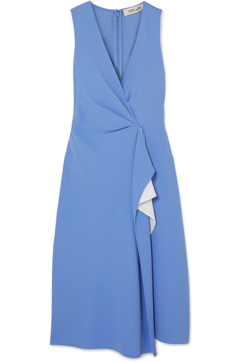 Addison Ruffled Crepe Dress