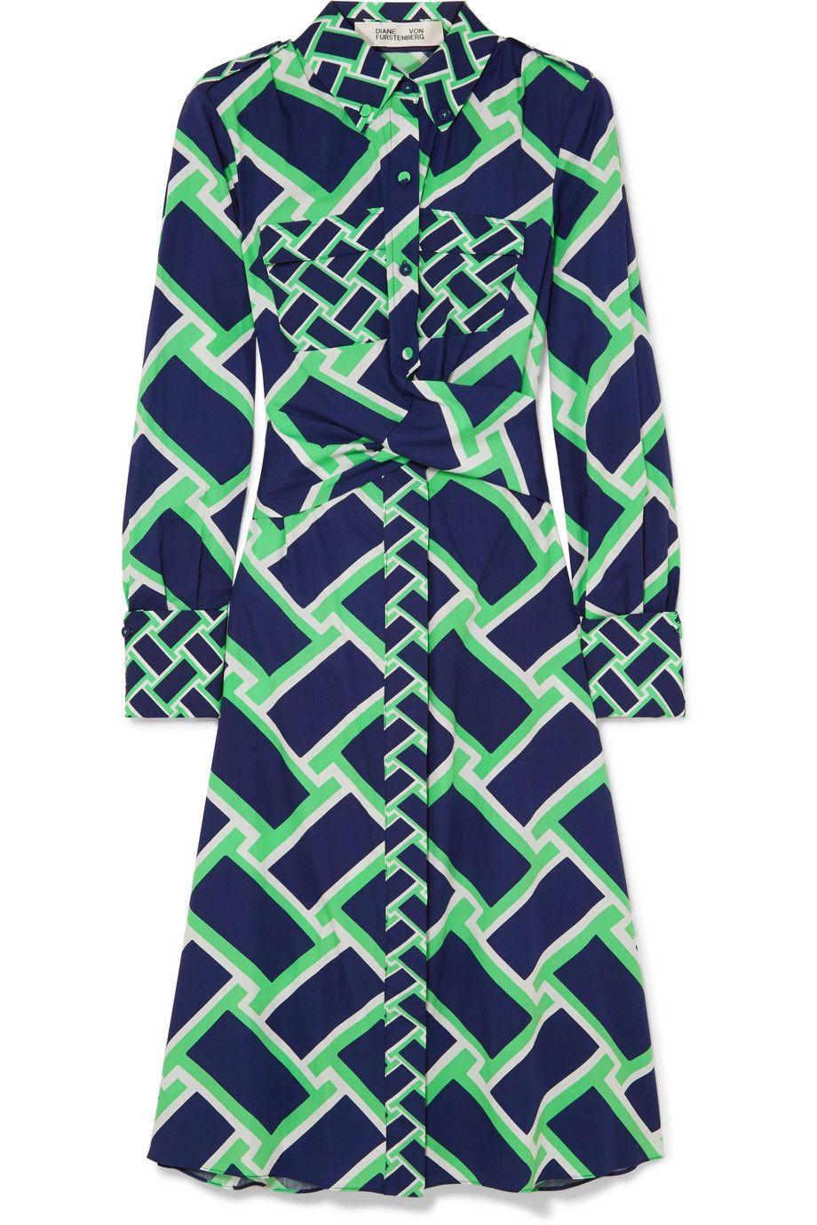 Jeri Printed Cotton Midi Dress