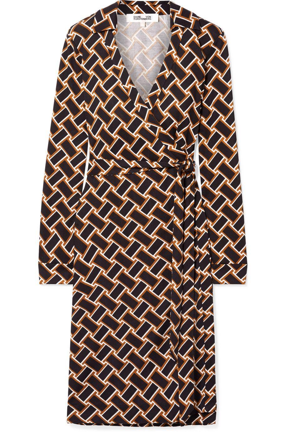 Printed Silk-Jersey Wrap Dress