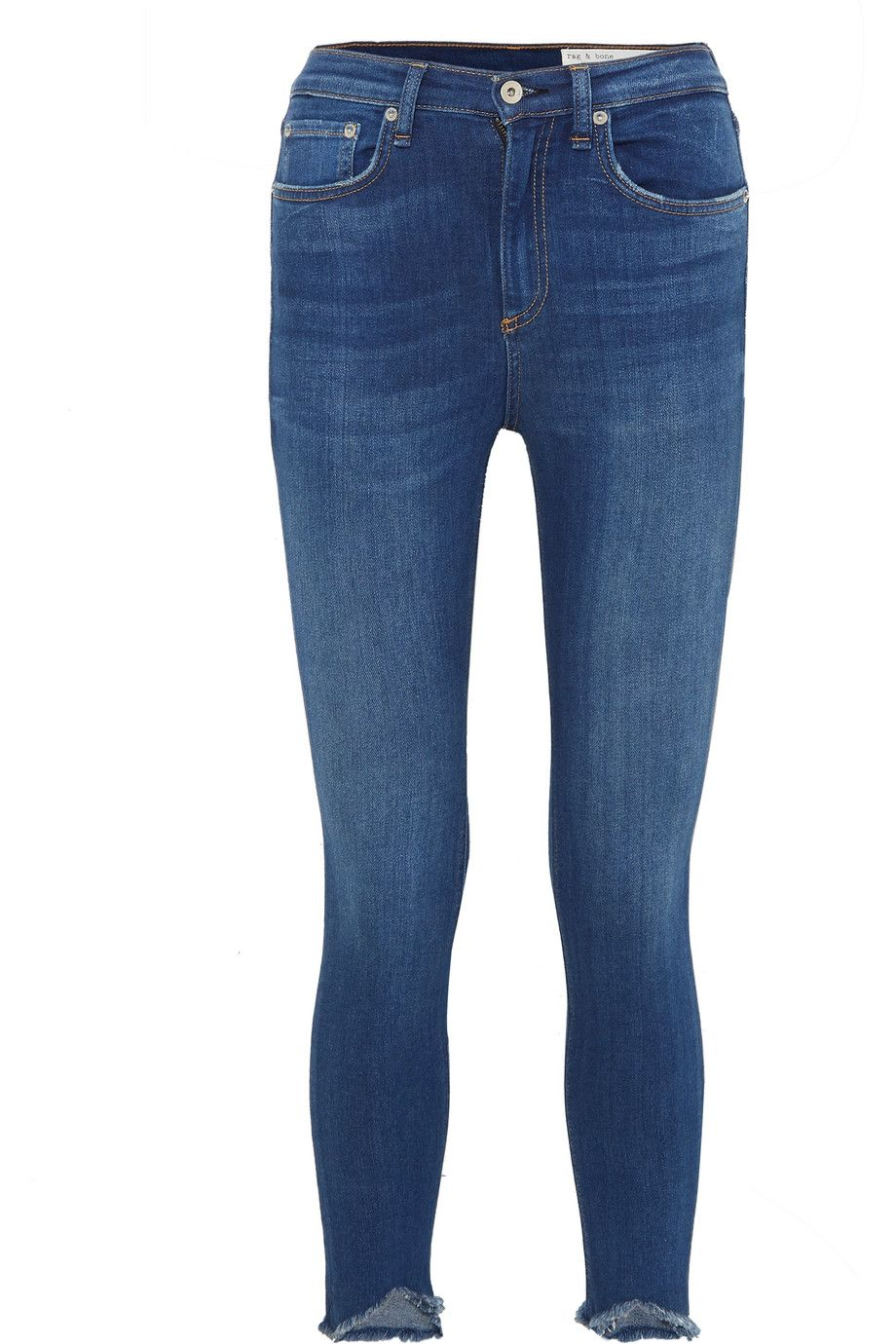 Cropped High-Rise Stretch Skinny Jeans