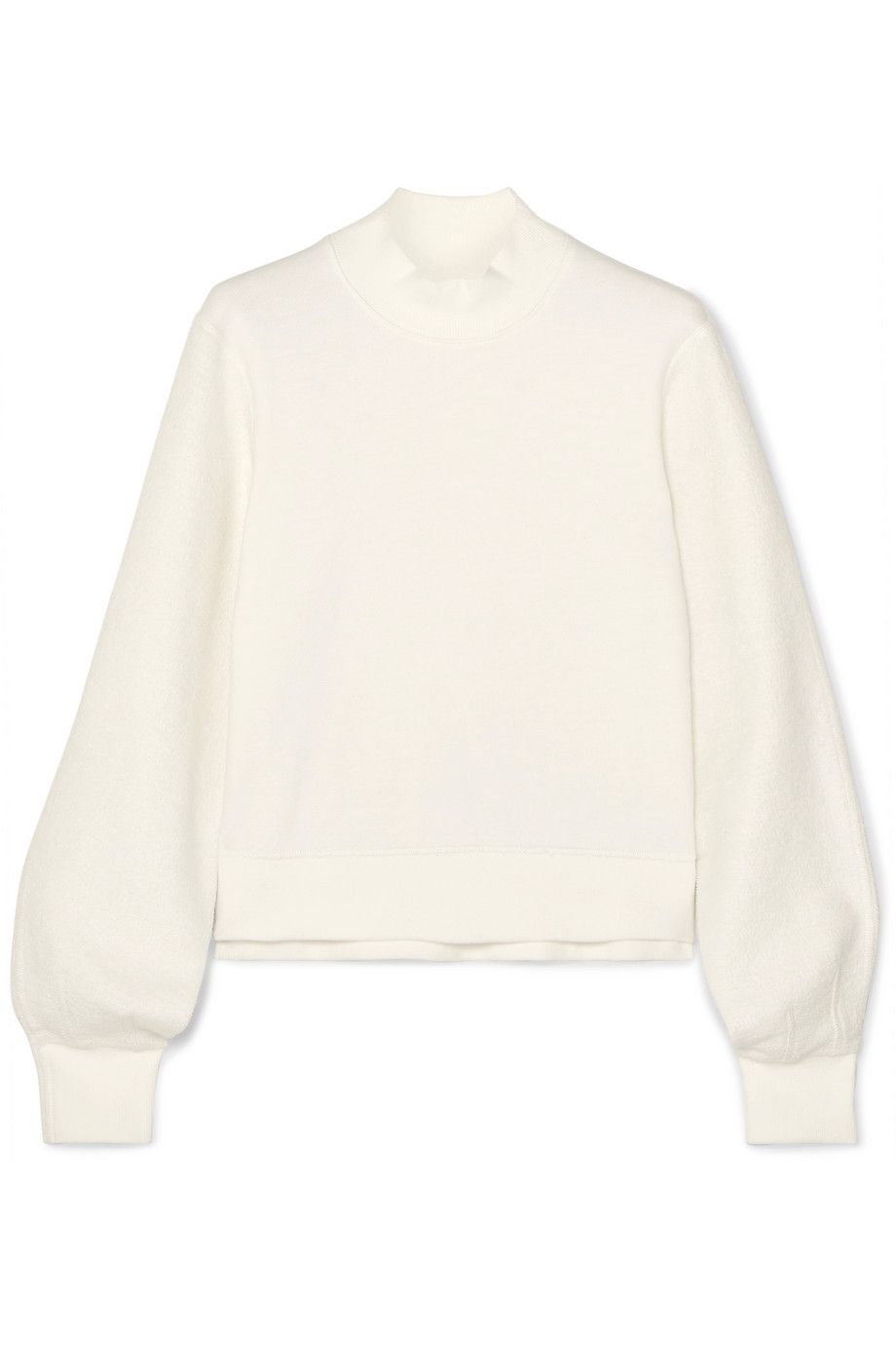 Sherie Cropped Cotton-Jersey Sweatshirt