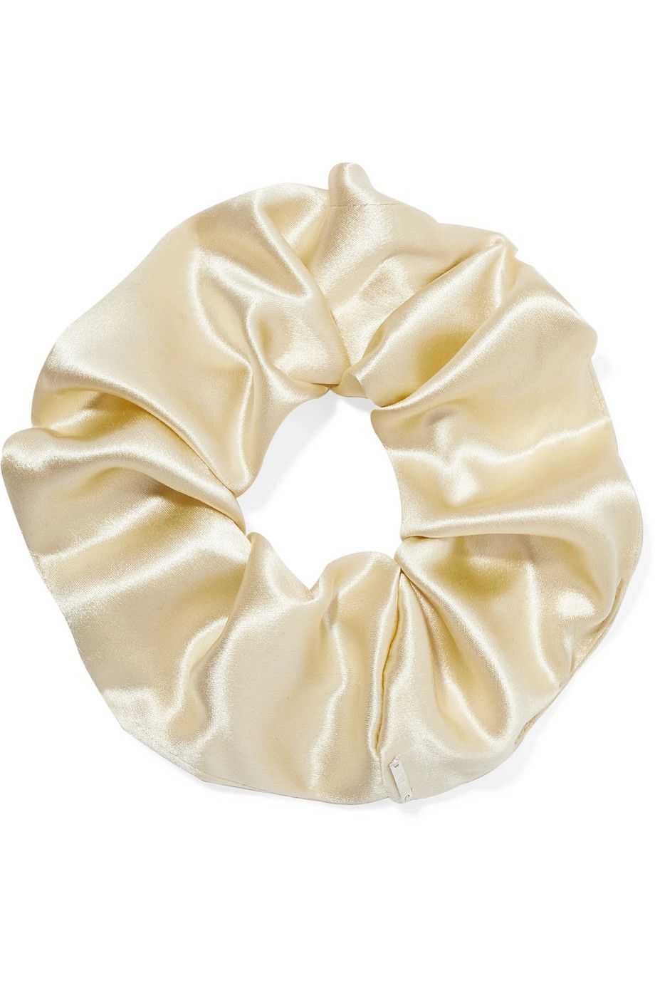 Elegant silk-satin hair tie