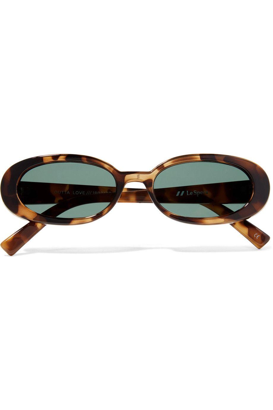 Outta Love oval-frame tortoiseshell acetate sunglasses