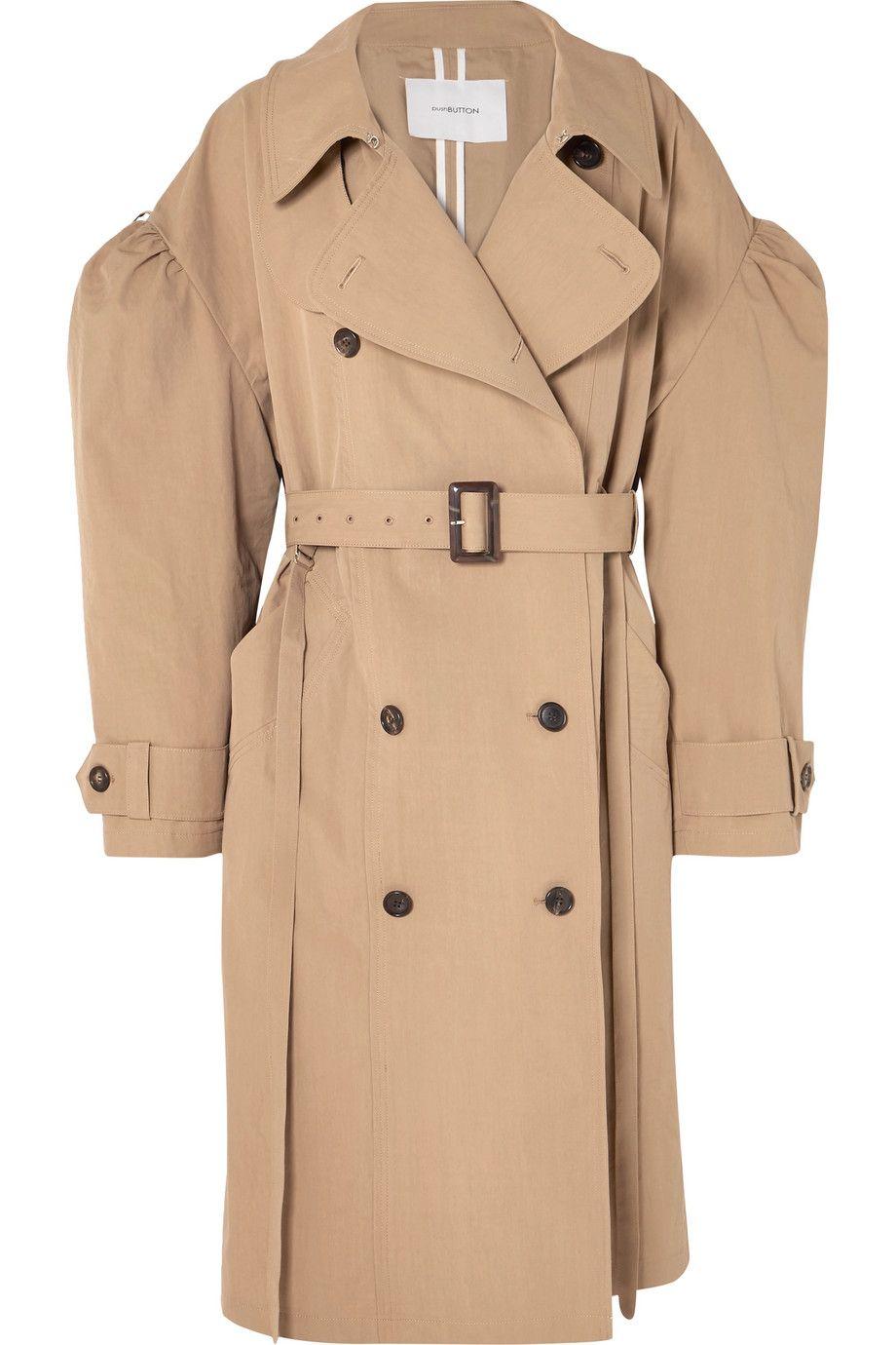 Oversized Cotton-blend Gabardine Trench Coat