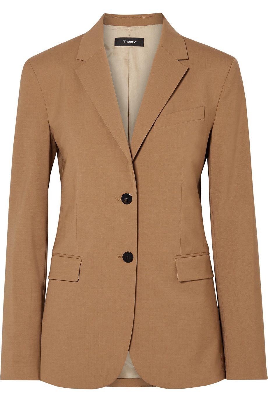 Classic Wool-Blend Blazer