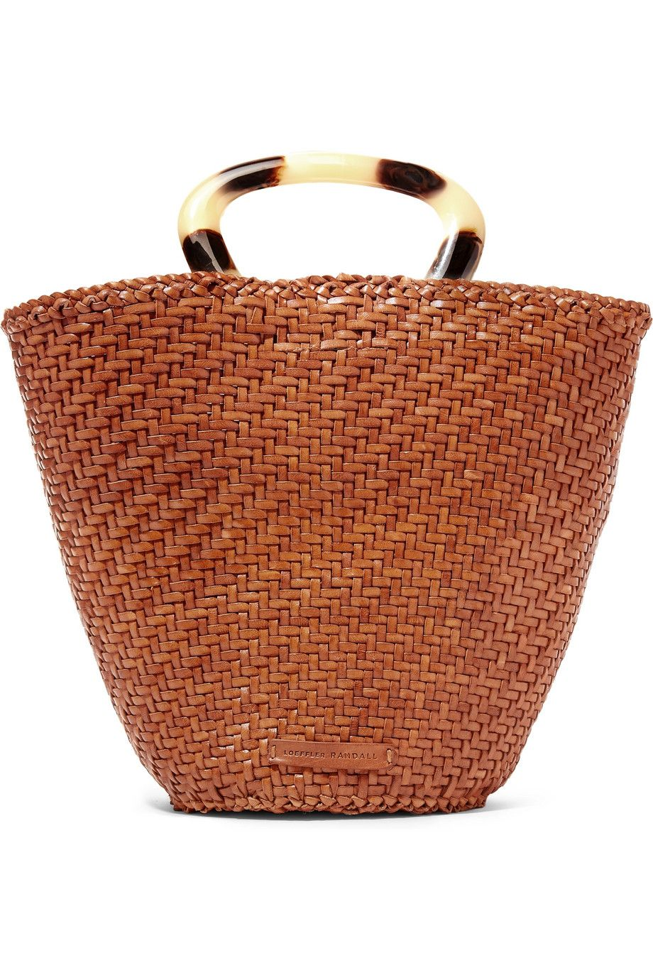 Agnes woven leather tote