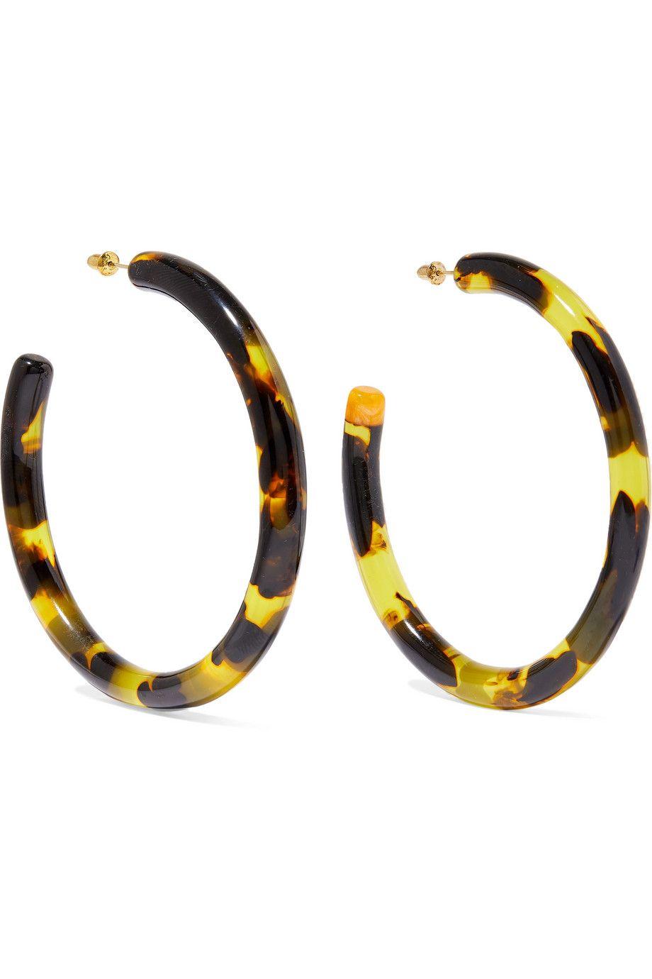 Geneva oversized tortoiseshell acrylic hoop earrings