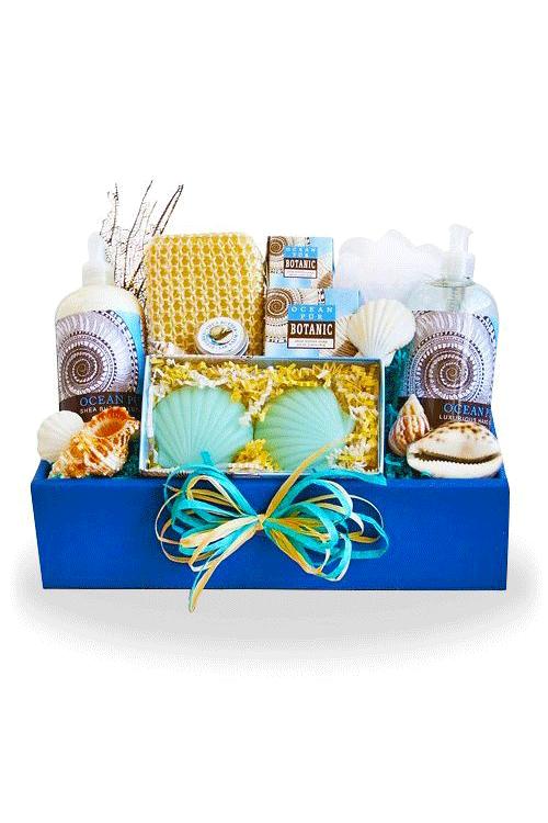 Seas Suns Greetings Spa Gift Basket