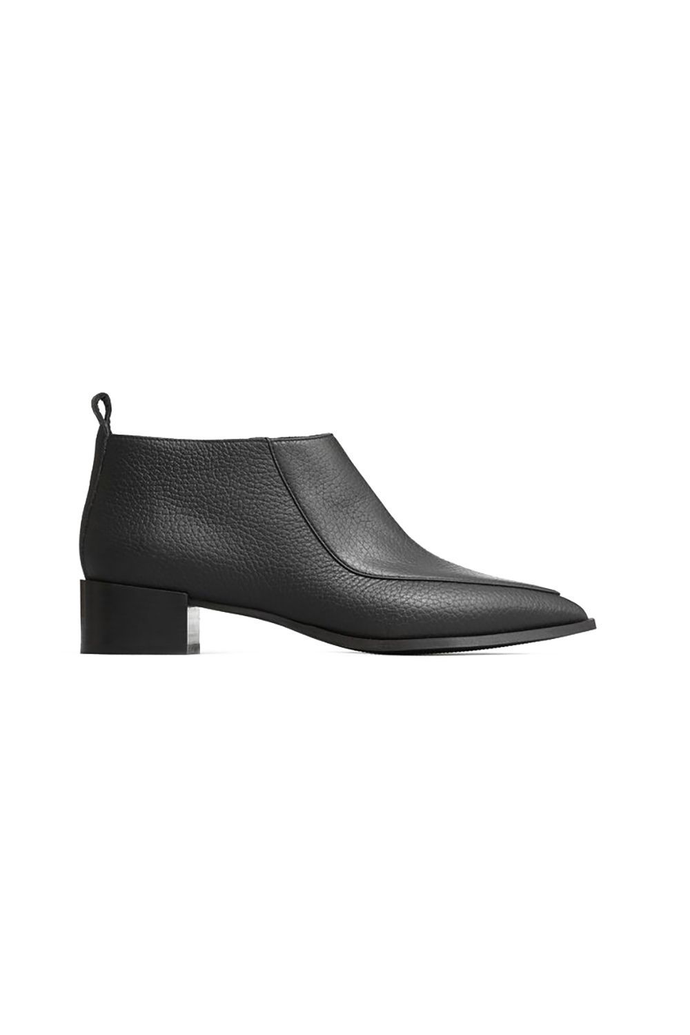 Black Ankle Boots Everlane everlane.com $215.00 SHOP IT This loafer-meets-boot creation is the ultimate office-appropriate shoe. It stops right at the ankles and the closed-toe design is sleek and unique with a badass kind of feel.
