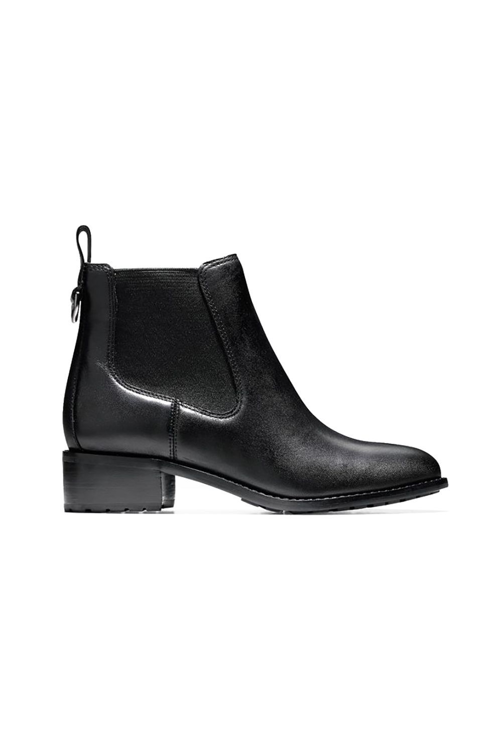 Undercover Rain Boots Cole Haan colehaan.com $200.00 SHOP IT Disguised as an every day patent-leather black bootie, this pair is actually 100 percent waterproof. The April showers might cause your hair to frizz and all ( we have some tips for that ), but at least your style can't be dampened.