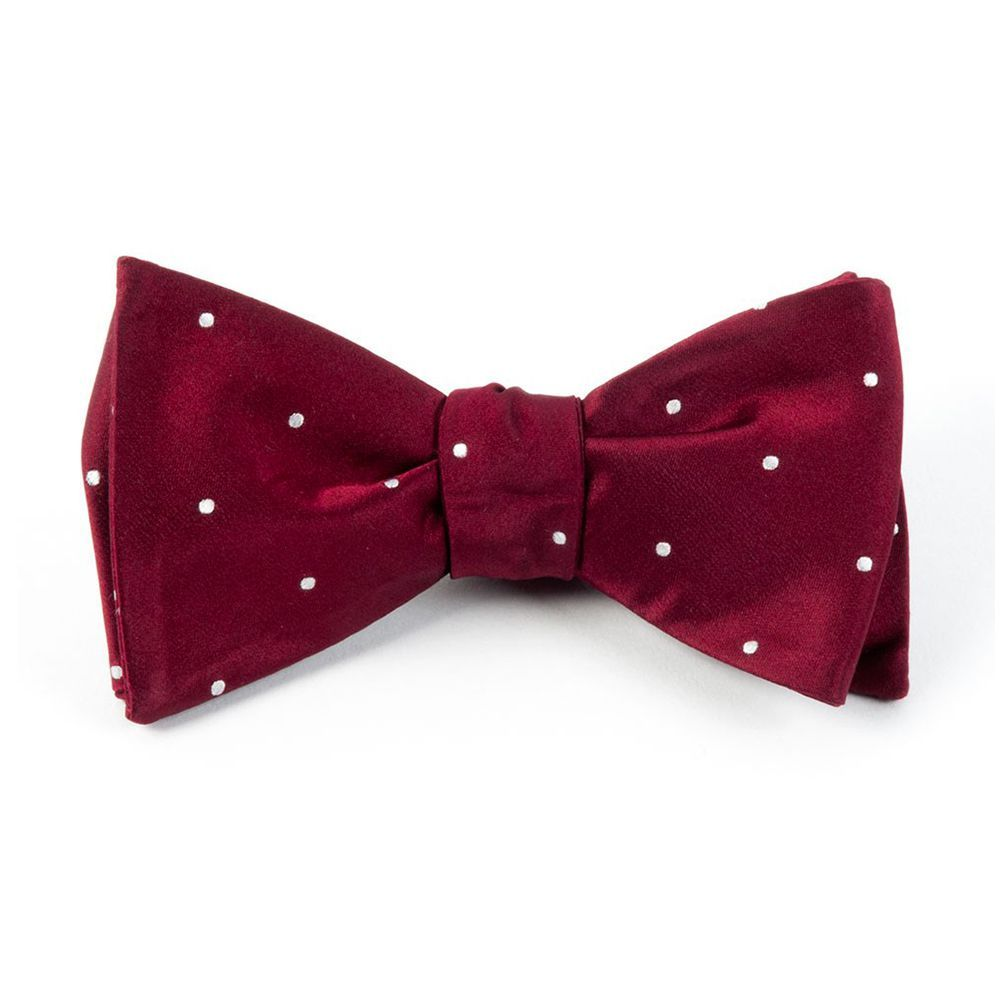 523ab109d8 The Tie Bar Satin Dot Bow Tie for Men