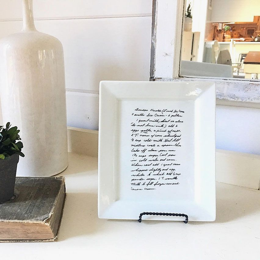 Personalized Handwritten Recipe Plate