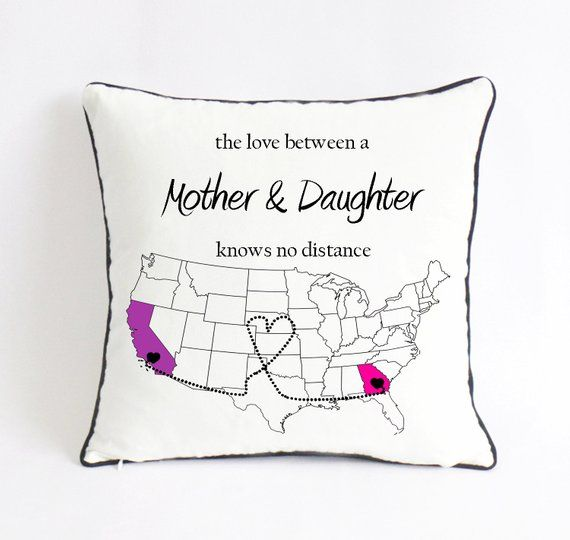 Long Distance Mother Daughter Pillow