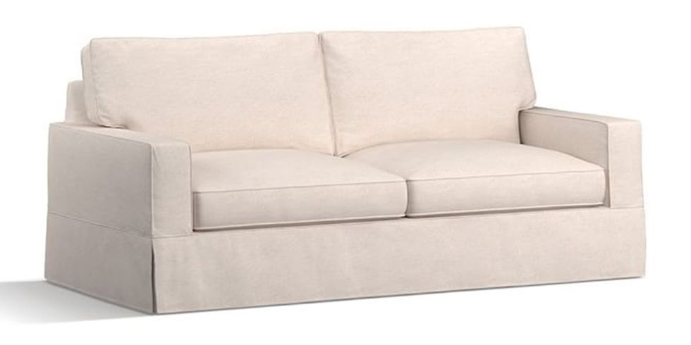 1 PB Comfort Square Arm Slipcovered Sleeper Sofa