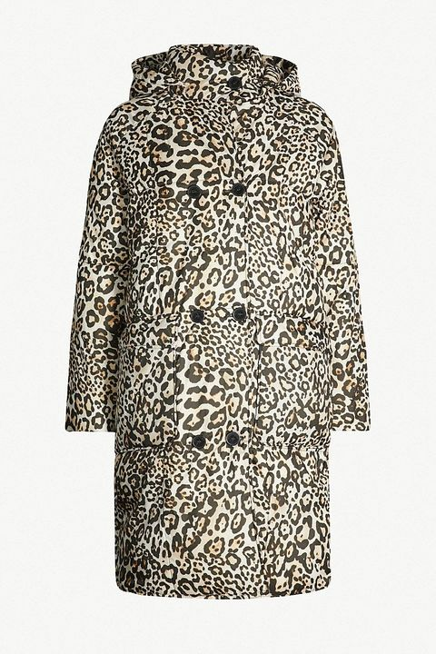 3d0a38f6b5a3c 1 of 22 . Leopard-print quilted shell hooded puffer coat. WHISTLES