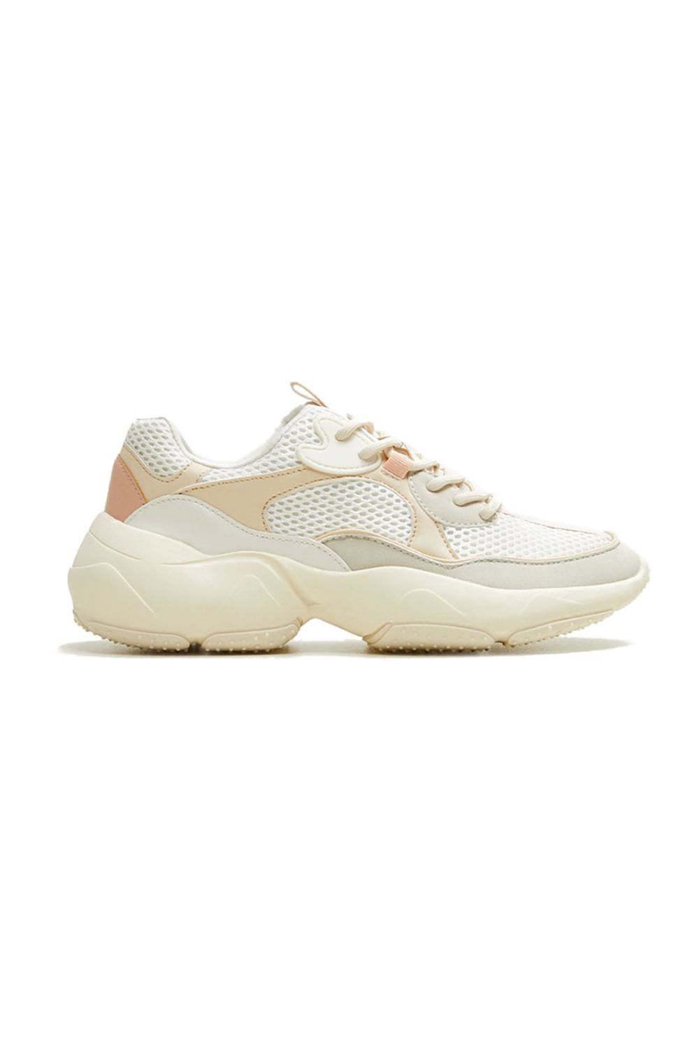 Maxi Sole Sneakers Mango mango.com $79.99 SHOP IT For those seeking a non-stark white sneaker, you'll love this pair from Mango. The cream and peach colors give it a softness and feminine feel compared to darker pairs like black and navy.