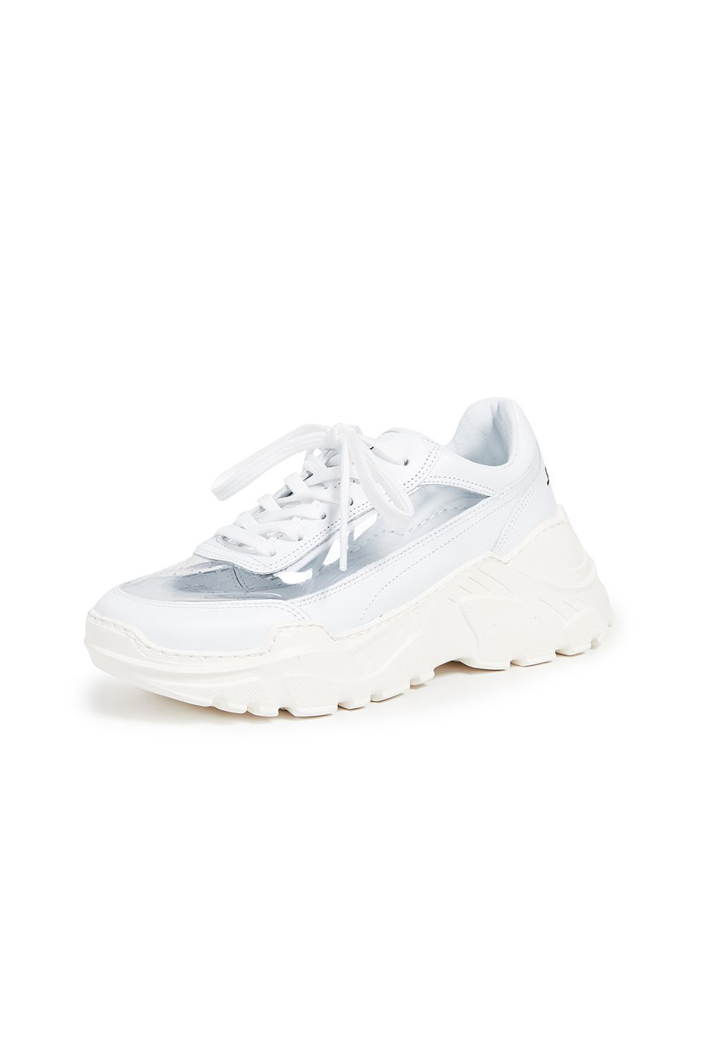 Zenith White PVC Sneakers Joshua Sanders shopbop.com $388.00 SHOP IT It was only a matter of time before someone combined the PVC trend with dad sneakers. This Joshua Sanders pair allows you to show off your springtime socks and presents a cool spin on the chunky sneaker look.