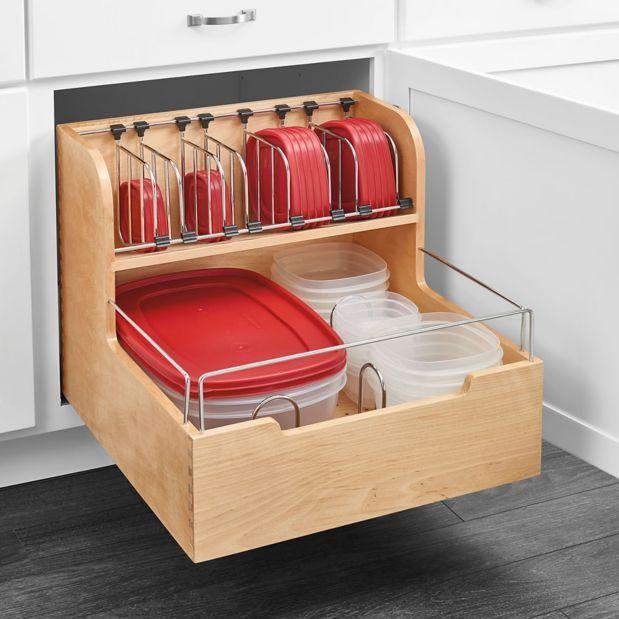 طريقة تقسيم أدراج المطبخ - منظم علب حفظ الطعام