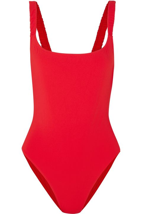 3012ee72cf5dd Fisch net-a-porter.com. $230.00. SHOP NOW. Get your Baywatch on in this  minimal red one-piece.