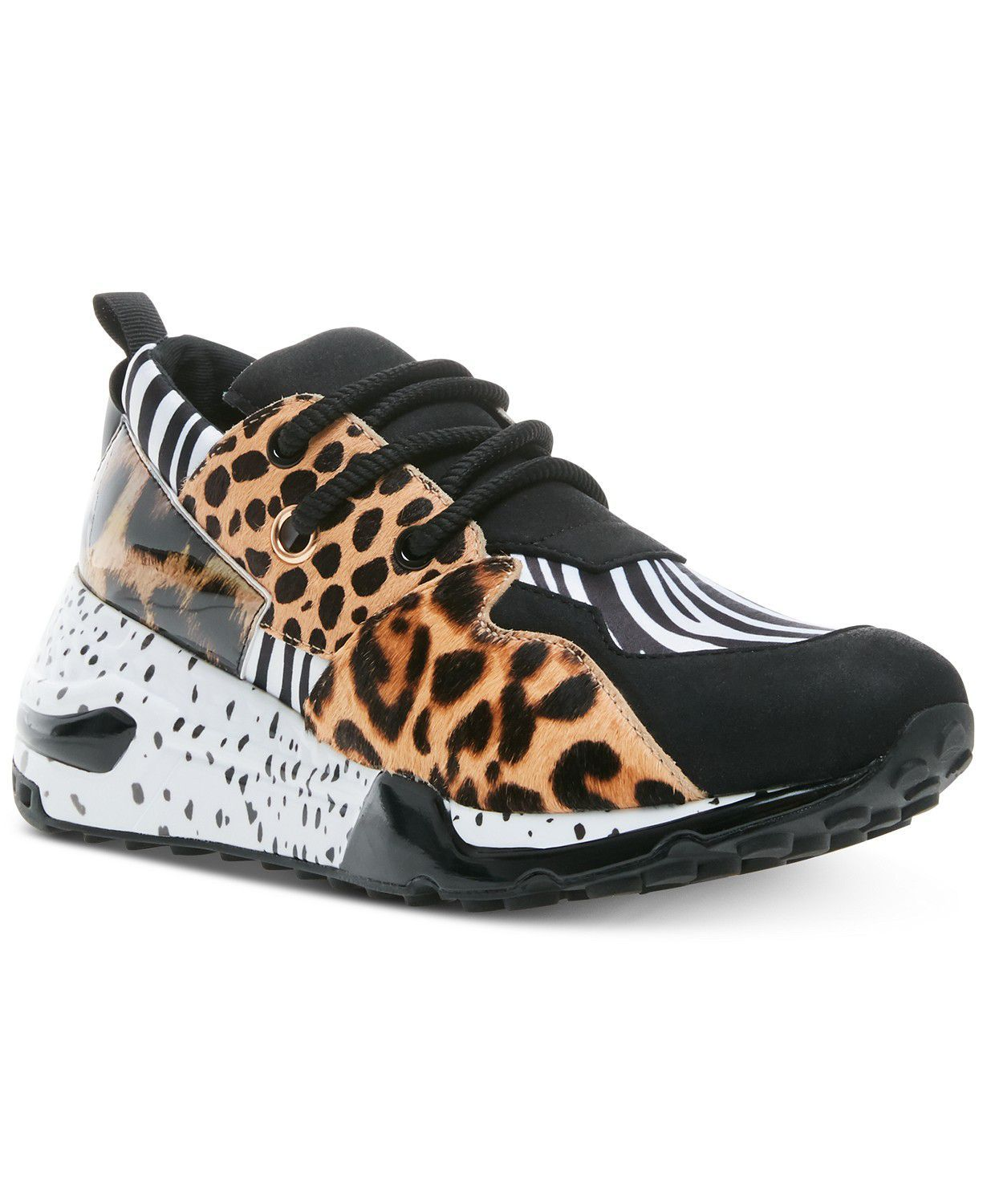 Statement Sneakers Steve Madden macys.com $99.00 SHOP NOW There's a reason multiple people on the team said their out-there sneakers always get people talking. Comfortable to wear, this animal print mix definitely doesn't belong at the gym.