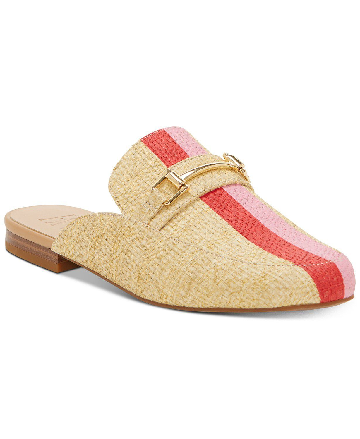 Woven Mules INC International Concepts macys.com $43.93 SHOP NOW Bring the slip-on that's part preppy, part low-key into the office. Make the shape even more summer-ready in a straw-like material and fruit punch stripes.