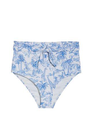Sash Tie High Waist Bikini Bottoms